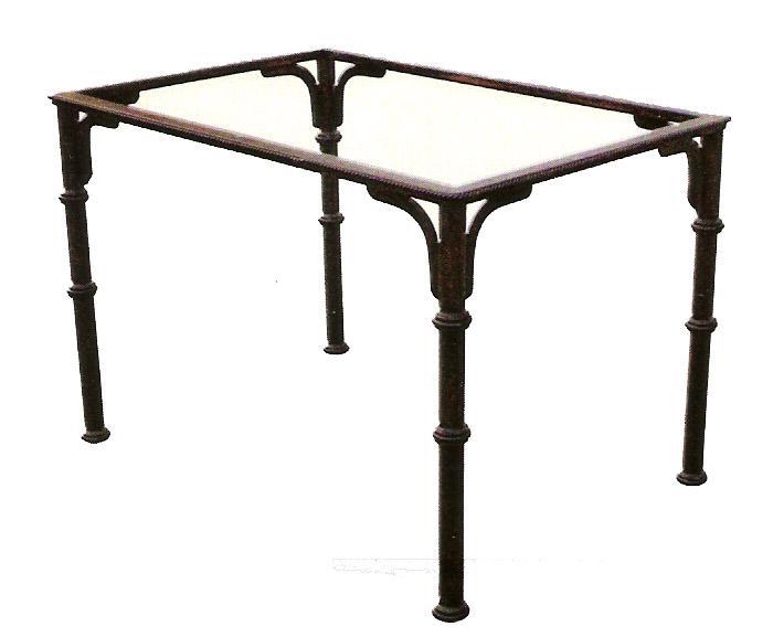 Arte forja diego ramos mesa de forja c rdoba con patas - Patas para mesas redondas ...
