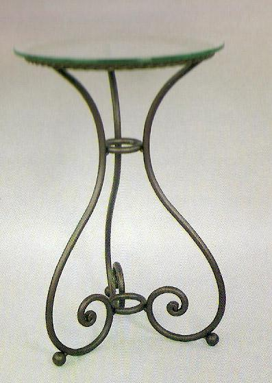 Arte forja diego ramos t 151 mesa de forja c rdoba redonda de tres patas - Patas de forja para mesas ...